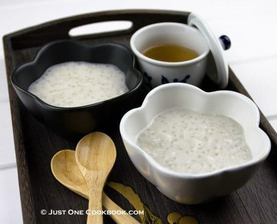 taro tapioca pudding
