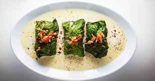 Swiss chard wrapped dumplings called capuns