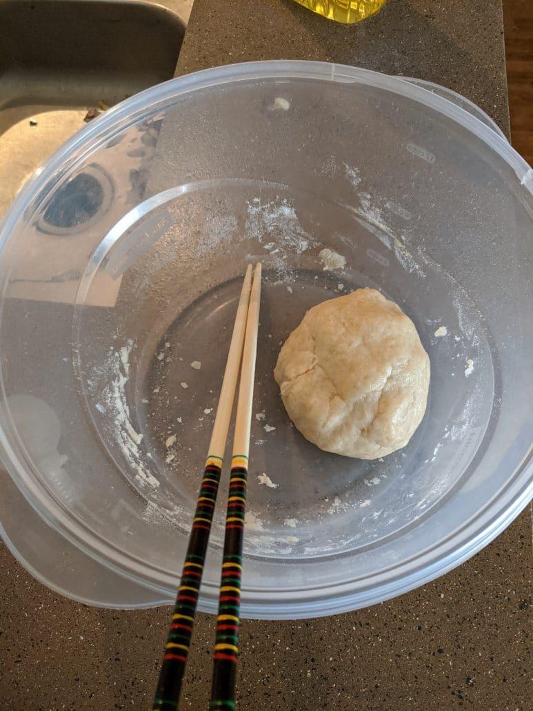Finished dumpling dough