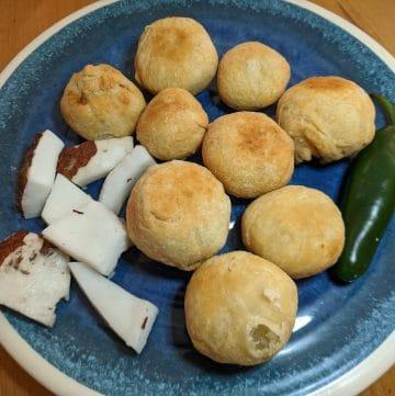 Gulha, fried tuna dumplings