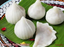 Modak filled with sesame seeds and jaggery syrup