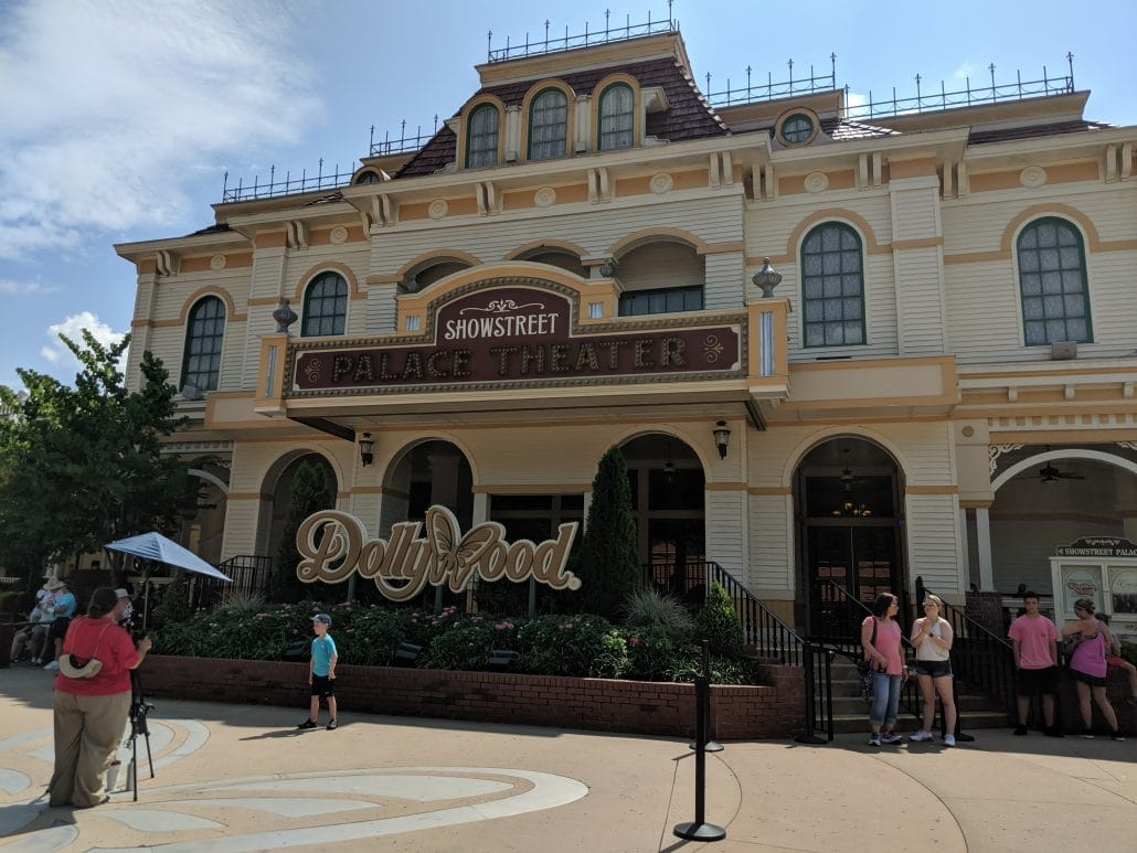 The front entrance of Dollywood