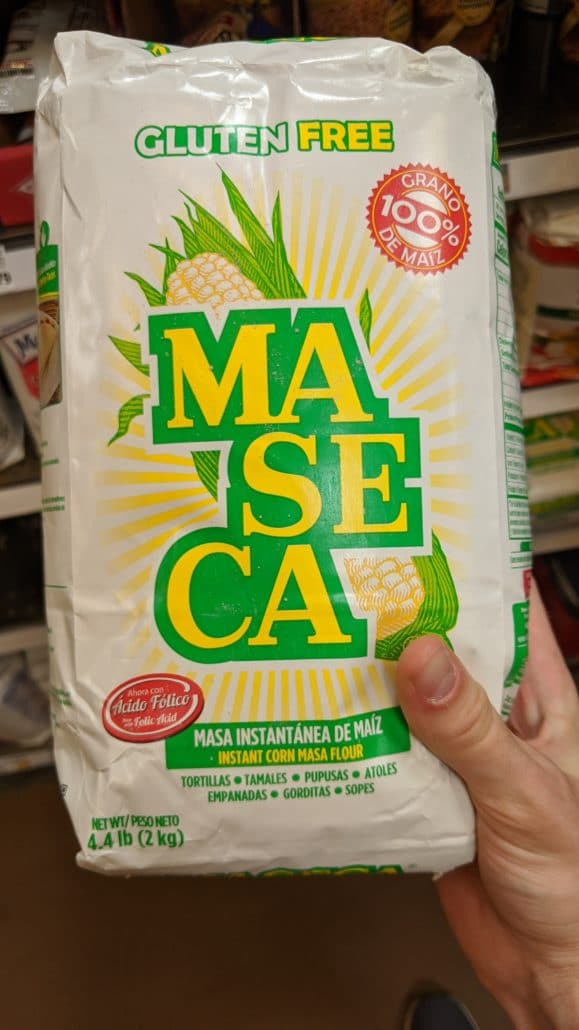A bag of masa harina