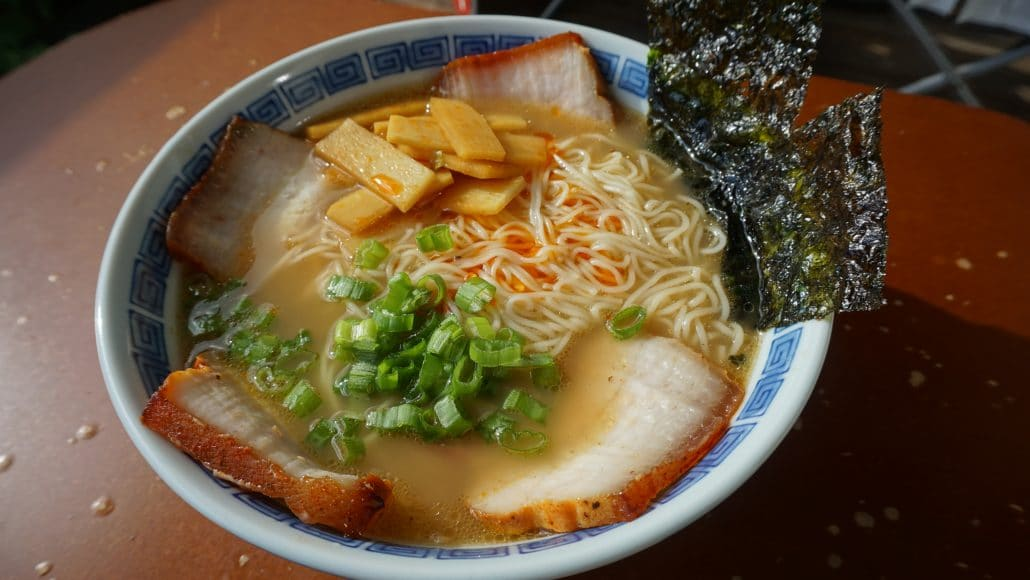 A bowl of Kurume ramen