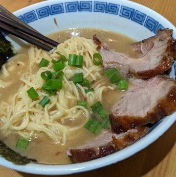 A bowl of miso ramen