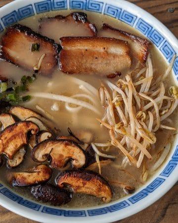 A bowl of Kagoshima ramen