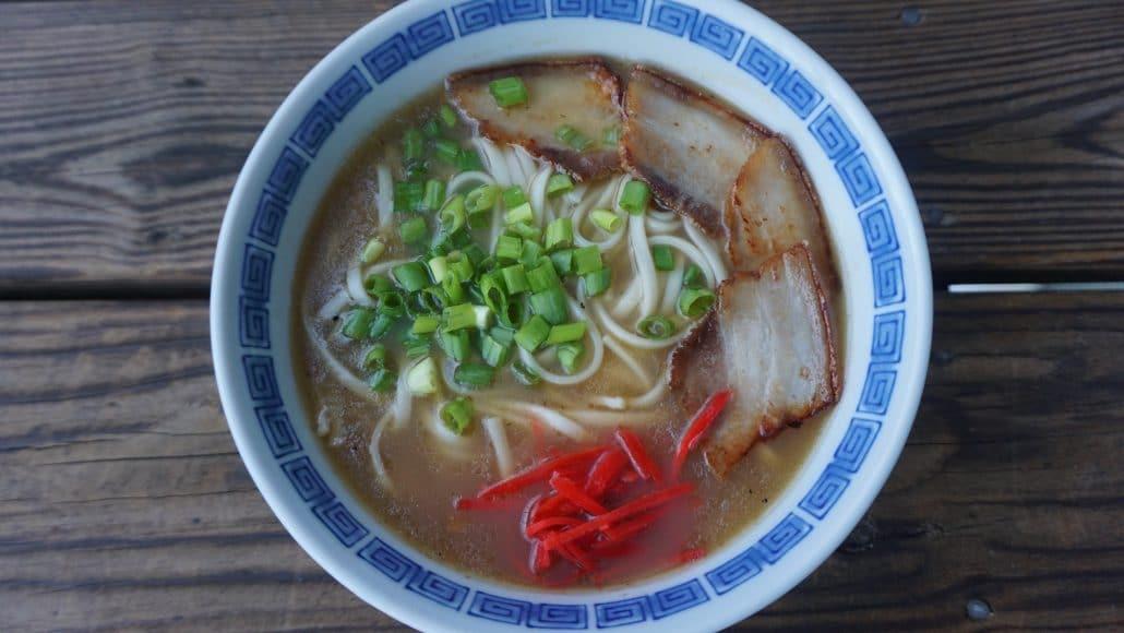 A bowl of Onomichi ramen