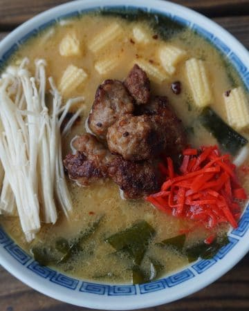 A bowl of Sapporo tonkotsu ramen