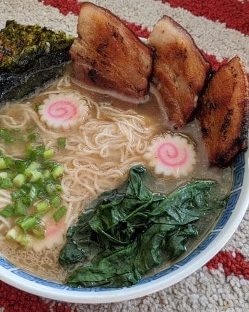 A bowl of Shirakawa style ramen