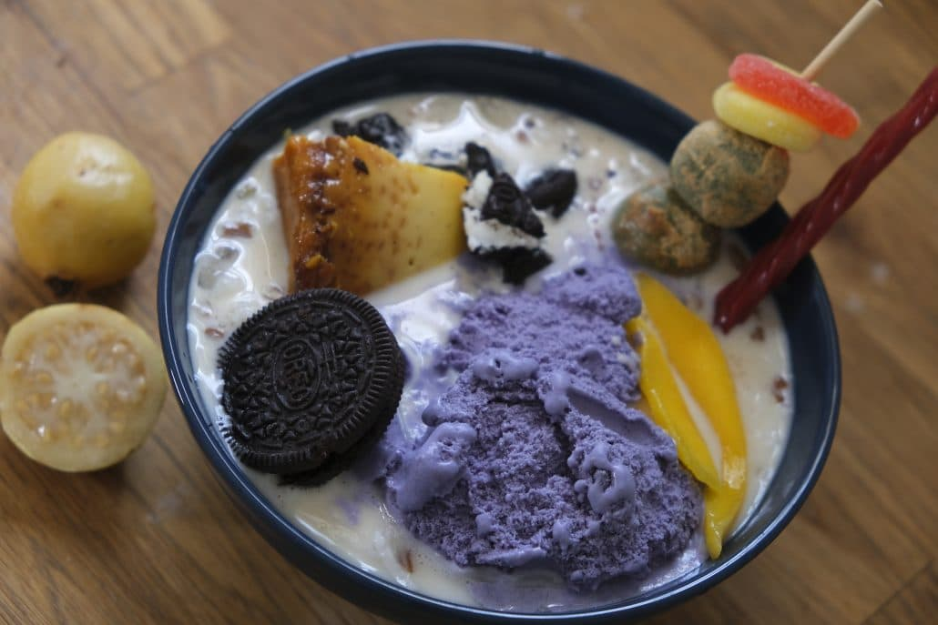 A different take on the dish with less traditional Filipino ingredients like Oreos and Twizzlers